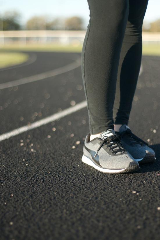 Headband: Marshalls   Tank & Leggings: Target   Shoes: Puma via Nordstrom Rack   Baby carrier: Ergobaby